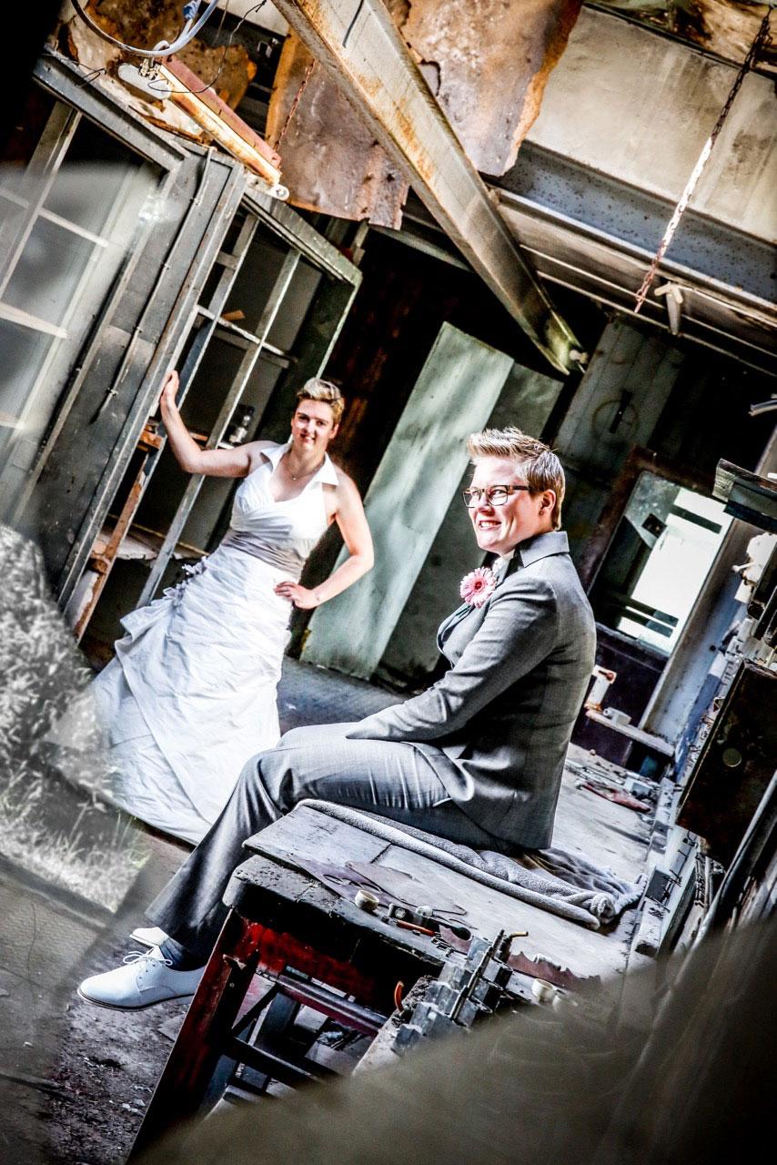 fabrieksfoto trouwen