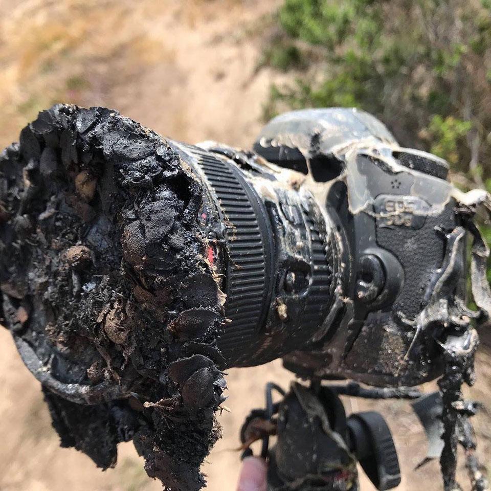 verbrande Canon, ongelukje